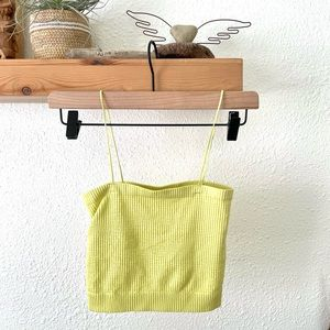 Urban Outfitters chartreuse lime crop top